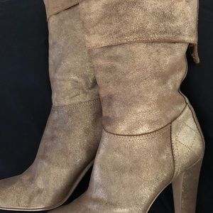 Chanel Gold boots Fab for fall 41.5